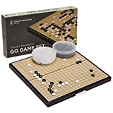 Yellow Mountain Imports Go Game Set Magnetic Go Game Set (19x19) - Convenient Single Convex Yunzi Stones - Travel-Ready - Stones Stay in Place on the Board - Great Starter Set