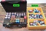 Hard Battery Organizer storage case with battery