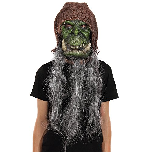 Strange Dr Costume Modern (Halloween Mask Ghost Vampire Witch Bag Hag Long Beard Beast with Head Scarf Fancy Party Dressing)