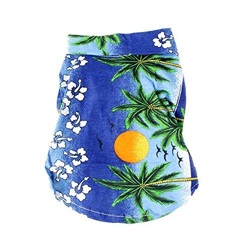 ELINKMALL Summer Pet Dogs Clothes Beach Floral T-Shirt Hawaiian Dog Shirt Blouse
