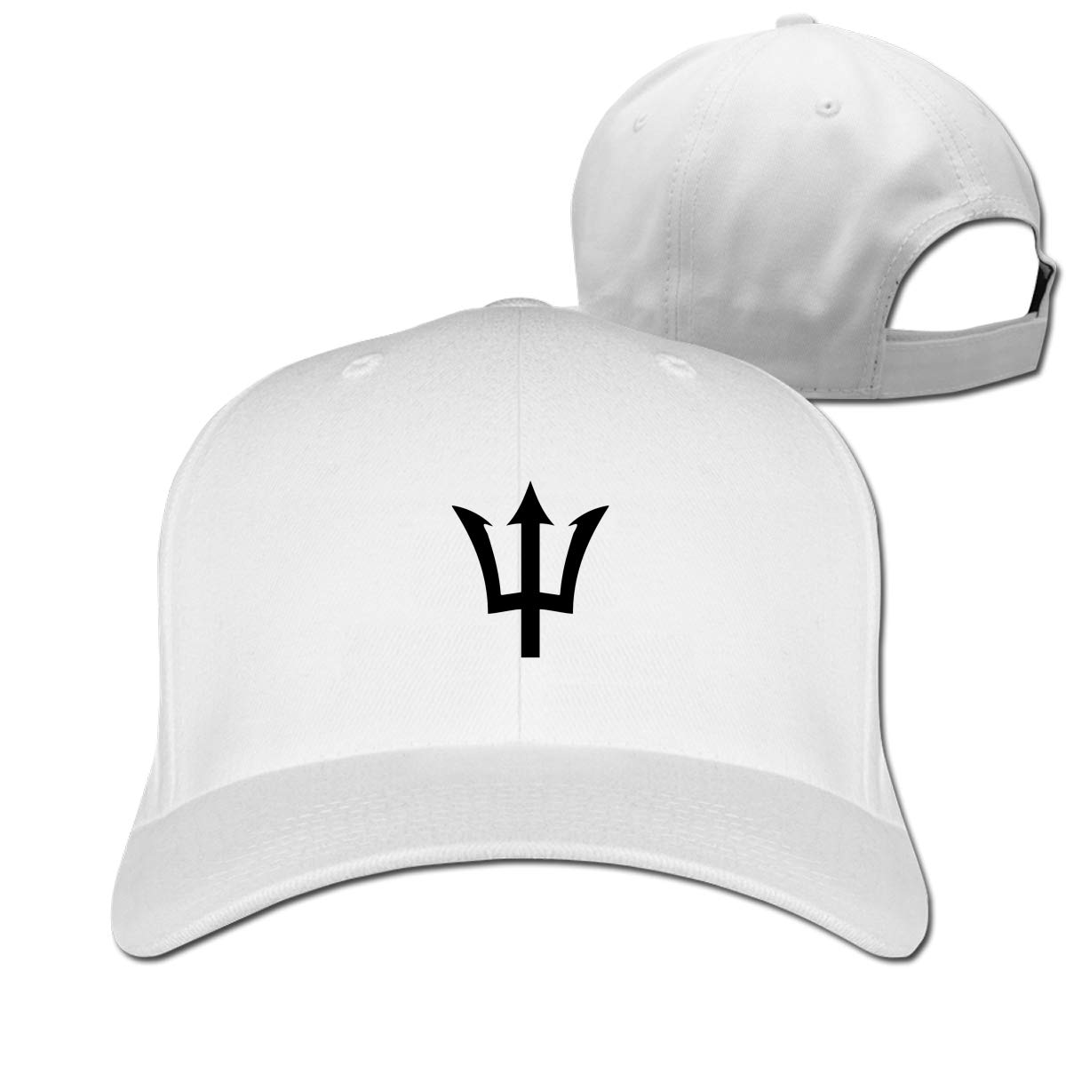 Barbados Flag Fashion Adjustable Cotton Baseball Caps Trucker Driver Hat Outdoor Cap White