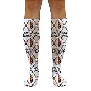 Funny Knee High Socks Alano Espanol Dog Paws Polyester Tube Women & Men 1 Size 9