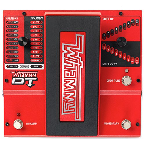 - DigiTech Whammy DT Drop Tuning Guitar Pitch Shift Effect Pedal with True Bypass and ac power adapter