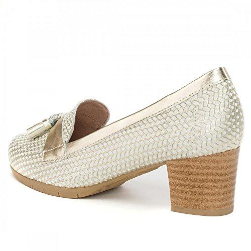PITILLOS Zapato Para Mujer Fabricado EN España, 5032 Color Dorado con Tacón Cómodo. Oro