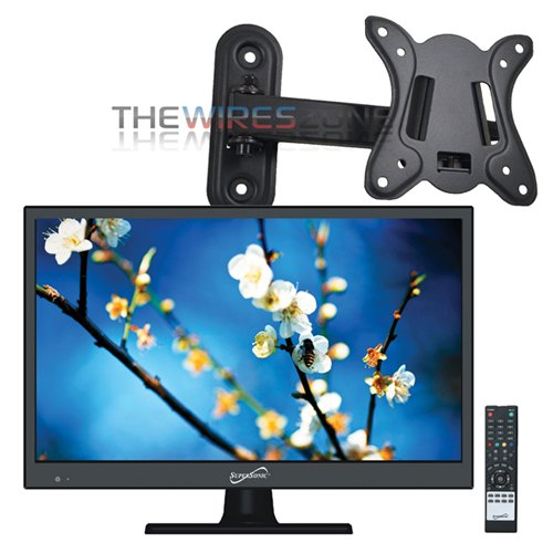 Supersonic SC-1511 Black 15.6 1080p LED HDTV with HDMI & USB Input + Wall Mount