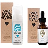 All Natural Tea Tree Eyelid Cleanser Kit (Cleansing Oil 30 ml & Foaming Cleanser 40 ml) - Moisturizes, Reduces Itching and Inflammation, Blepharitis, Demodex, Dry Eyes Relief, Paraben and Sulfate Free