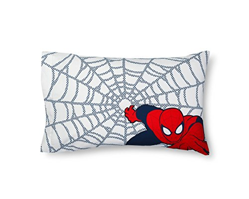 Web Of Spider Man Covers (Marvel Spider-Man Web Blue Pillowcase (Standard))