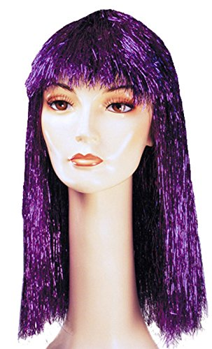 Lacey Wigs (Pageboy Long Tinsel Costume Wig Gold At424)