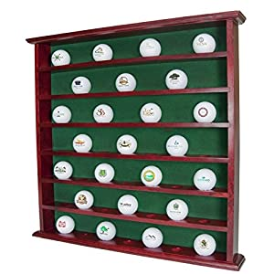 Golf Gifts & Gallery Mahogany 49-Ball Display Cabinet No Door