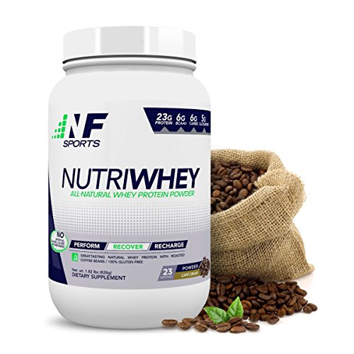 NF Sports Nutriwhey - All-Natural Whey Protein Powder That Improves Post-Workout Recovery and Muscle Repair - Café Cream Flavor - 100% Satisfaction Guaranteed - 23 Servings