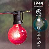 50Ft G40 Globe Patio String Lights with 50