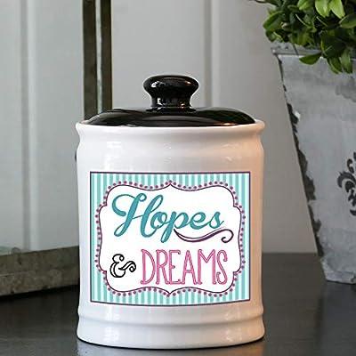 Cottage Creek Wishing Jar Round Decorative Hopes and Dreams Jar Piggy Bank/Hopes Jar Dreams Jar [White]: Home & Kitchen