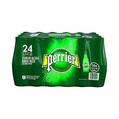 PERRIER Sparkling Mineral Water, 16.9-Ounce Plastic Bottles - Count 24 - Pack of 4 by Perrier
