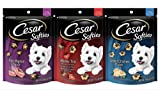 Cesar Softies Dog Treats 3-flavor Medly Grilled Chicken Filet Mignon Combo Pack