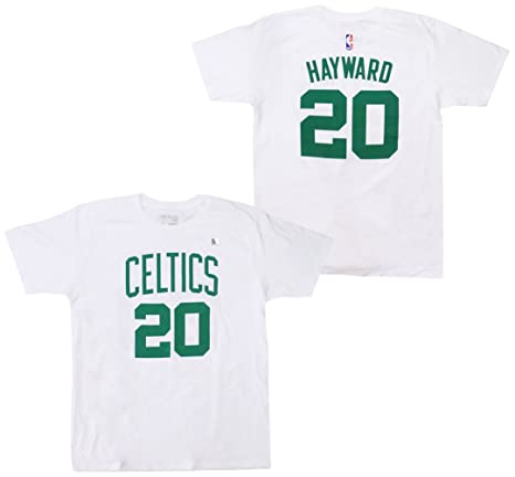 cheap for discount 65812 9c921 Gordon Hayward Boston Celtics White Name and Number T-shirt