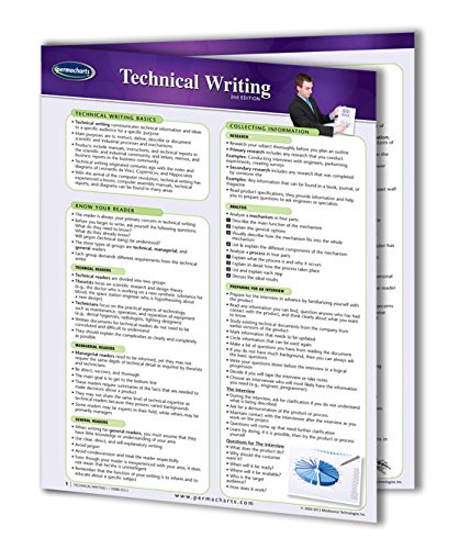 (Technical Writing Guide - 4-page Laminated Quick Reference Guide by Permacharts)