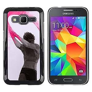rígido protector delgado Shell Prima Delgada Casa Carcasa Funda Case Bandera Cover Armor para Samsung Galaxy Core Prime SM-G360 /Paint Indian Holiday Man Art/ STRONG