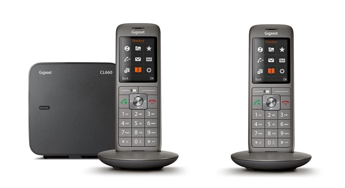 981495df76095a Gigaset CL660 Duo - Téléphone fixe sans fil - 2 combinés - Gris Anthracite