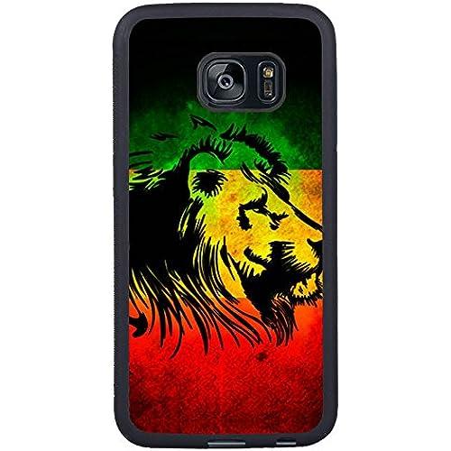 Samsung S7 Edge Case, rasta lion Black Rubber Case for Samsung S7 Galaxy Edge,S7 Edge Case,Galaxy S7 Edge Cover Sales