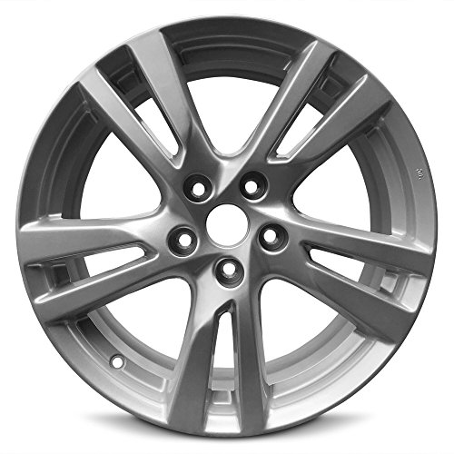 Road Ready Car Wheel For 2013-2017 Nissan Altima 18 Inch 5 Lug Silver Aluminum Rim Fits R18 Tire - Exact OEM Replacement - Full-Size Spare