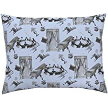 Roostery Spooky Standard Knife Edge Pillow Sham Poltergeist by Louisehenderson Natural Cotton Sateen made by