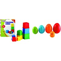 Funskool Giggles Stacking Cubes + Giggles Nesting Eggs