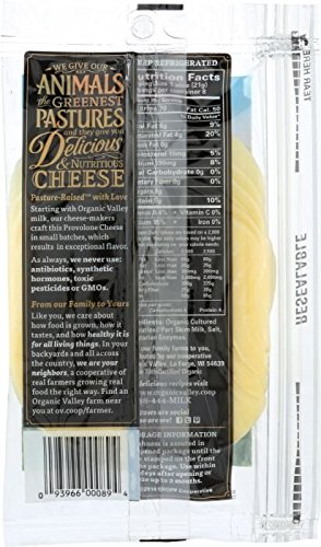 ORGANIC VALLEY: Sliced Cheese Provolone, 6 oz by ORGANIC VALLEY Products.