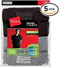 Hanes Men's Fresh IQ Big Crew T-Shirts (Pack of Five) (Black and Grey, Large)