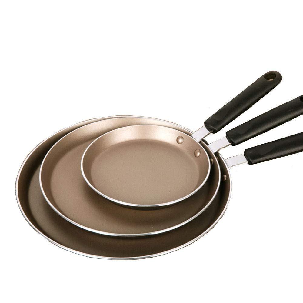 Frying Pan Aluminium Non-Stick Anti-Scratch Coating Ideal for Any Kind of hob, Fat-Free Cooking,26cm