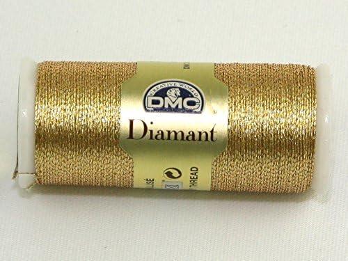 Light Gold 38.2-Yard 010294 DMC Diamant Metallic Needlework Thread