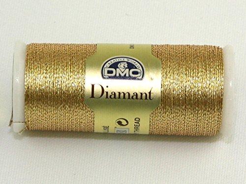 DMC Diamant Metallic Embroidery Thread D3821 Gold - per spool