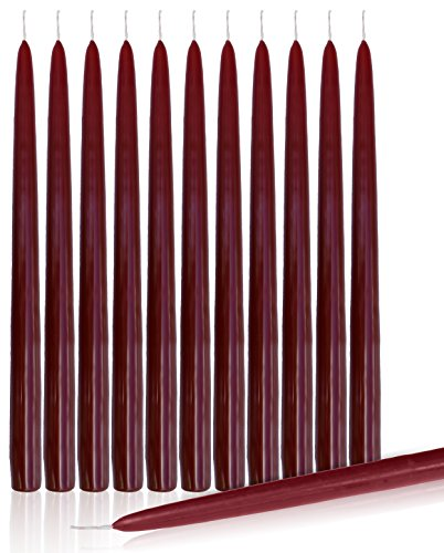 Dripless 10-inch Taper Candles (Set of 12)