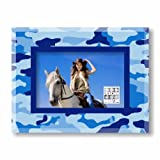 camouflage picture frame - Sixtrees Blue Camo Glass 4 by 6-Inch Frame