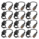 uxcell 6 Pairs Single Channel Video Balun Transceiver UTP Transmission Male BNC Adapter
