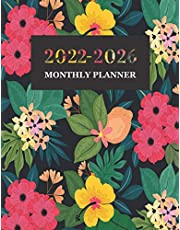 2022-2026 Monthly Planner: 5 year Monthly Calendar Planner January 2022 Up to December 2026 For To do list Organizer And 60 Months Academic Notebook Agenda Schedule for time management with Blue Floral Cover (5 year planner 2022-2026 monthly)