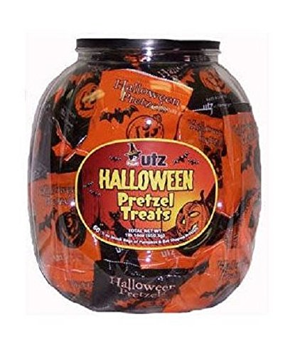 Utz Halloween Shaped Pretzel Treat Barrels, 70 -