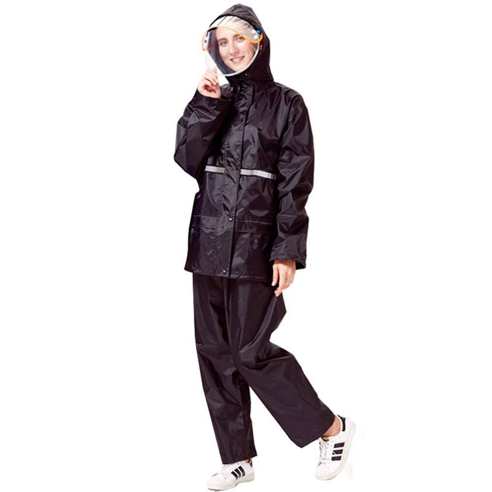 Female- 4 L XHCP Imperméable Clignotant - Polyester Pantalon de Pluie Split Set, Adultes mÂles et Femelles Marcher sur Pied épaississeHommest AugHommester PVC revêteHommest imperméable Poncho extérieur