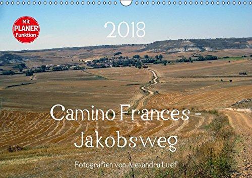 Camino Frances - JakobswegAT-Version (Wandkalender 2018 DIN A3 quer): Unterwegs am Jakobsweg von St. Jean-Pied-de-Port nach Santiago de Compostela ... [Kalender] [Apr 01, 2017] Luef, Alexandra