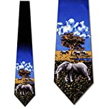 Out of Africa- Elephants tie Mens Necktie