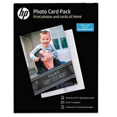 HP SF791A Photo Card Pack, Assorted Sheet Size, 10 Envelopes, White