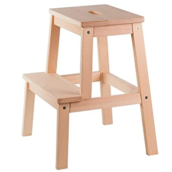 Stupendous Amazon Com Tltltd High And Low Stool Solid Wood Step Stool Theyellowbook Wood Chair Design Ideas Theyellowbookinfo