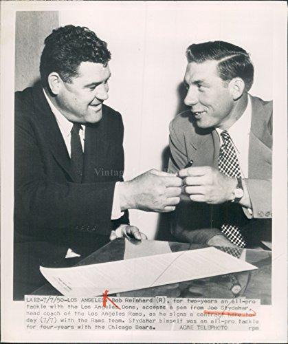 1950 Bob Reinhard Joe Stydahar Los Angeles Rams Head Coach WirePhoto