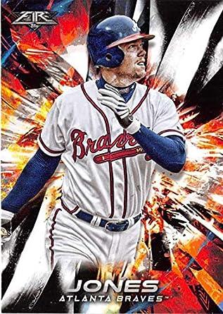 wholesale dealer c8b70 26e4a Amazon.com: 2018 Topps Fire Baseball #184 Chipper Jones ...