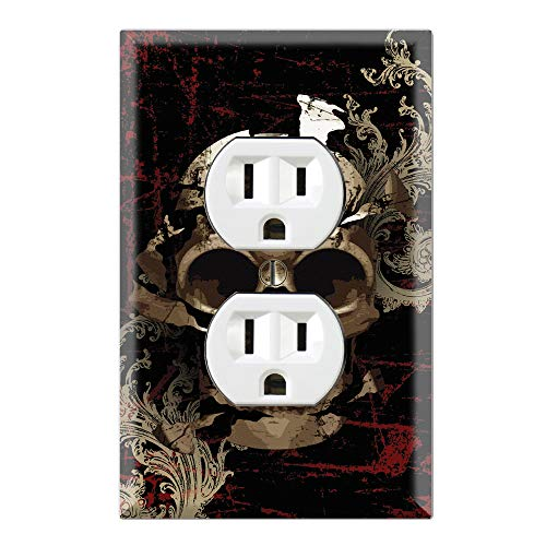 (Graphics Wallplates - Mystic Skull - Duplex Outlet Wall Plate Cover)