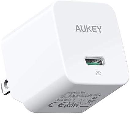 Amazon.com: AUKEY - Cargador de pared USB C (30 W), W, WHT ...