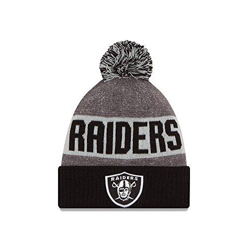 Men's New Era Oakland Raiders 2016 Sideline Sport Knit Hat Heather Grey Size One Size