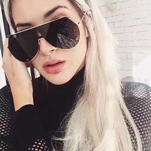 Ikevan 2017 Women Men Vintage Retro Square Frame Glasses Unisex Fashion Aviator Sunglasses (Black - Art Sunglass