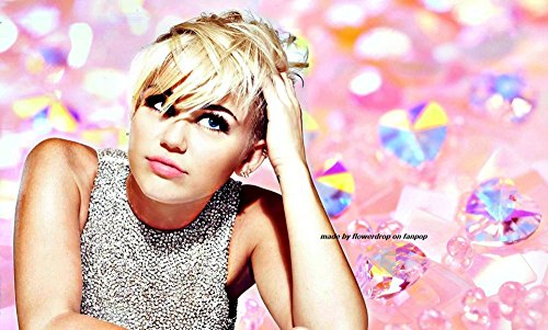 Miley Cyrus Music Star Fabric poster 36 x 24