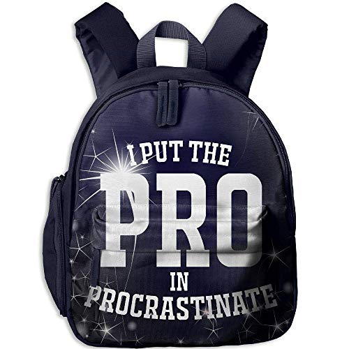Price comparison product image I Put The Pro In Procrastinate 3D Print Student Backpack Kids Fashion Bookbags