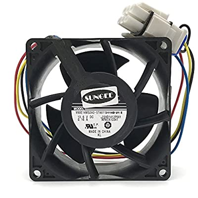V80E14MS2A3-57A611 DC 13.6V 0.16A 4wire 80x80x38mm Server Square Cooler fan